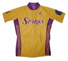 Los Angeles Sparks Home Short Sleeve Cycling Jersey