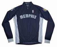 Memphis Grizzlies Away Long Sleeve Cycling Jersey Free Shipping