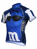 Men's Blue M&Ms Cycling Jersey