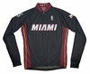 Miami Heat Away Long Sleeve Cycling Jersey Free Shipping