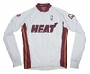 Miami Heat Long Sleeve Cycling Jersey Free Shipping