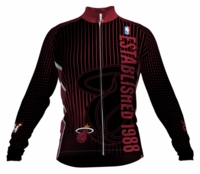 Miami Heat Retro Long Sleeve Cycling Jersey