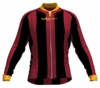 Miami Heat Striped Long Sleeve Cycling Jersey