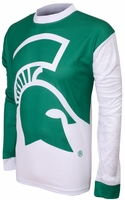 Michigan State Spartans Long Sleeved Bike Jersey