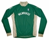 Milwaukee Bucks Away Long Sleeve Cycling Jersey Free Shipping