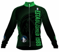 Minnesota Timberwolves Retro Long Sleeve Cycling Jersey