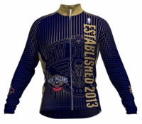New Orleans Pelicans Retro Long Sleeve Cycling Jersey