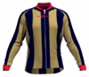 New Orleans Pelicans Striped Long Sleeve Cycling Jersey