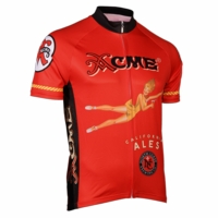 North Coast Acme Red Men's Short Sleeve Cycling Jersey