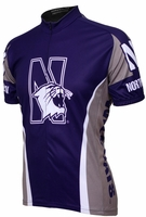 Northwestern Wildcats Cycling Jersey Free Shipping