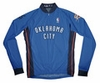 Oklahoma City Thunder Away Long Sleeve Cycling Jersey Free Shipping