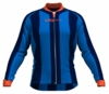 Oklahoma City Thunder Striped Long Sleeve Cycling Jersey