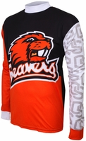 Oregon State Beavers Long Sleeved Bike Jersey
