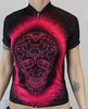 Pink and Black Skull Cycling Jersey