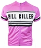 Pink Retro Hill Killer Cycling Jersey