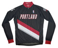 Portland Trail Blazers Away Long Sleeve Cycling Jersey Free Shipping