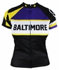 Purple Woman's Baltimore Retro Cycling Jersey