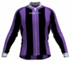 Sacramento Kings Striped Long Sleeve Cycling Jersey