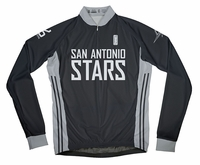 San Antonio Silver Stars Away Long Sleeve Cycling Jersey