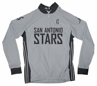 San Antonio Silver Stars Home Long Sleeve Cycling Jersey