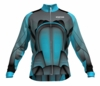 Sporting Kansas City Aqua Keeper Long Sleeve Cycling Jersey