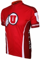 University of Utah Runnin Utes Cycling Jersey Free Shipping