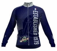 Utah Jazz Retro Long Sleeve Cycling Jersey