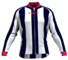 Washington Wizards Striped Long Sleeve Cycling Jersey