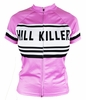 Woman's Pink Retro Hill Killer Cycling Jersey