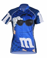 Women's Blue M&Ms Cycling Jersey