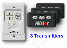 Allstar Wall Console with 3 Classic Transmitters