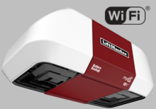 LiftMaster 8550W Elite Series� DC Battery Backup Belt Drive Wi-Fi� Garage Door Opener