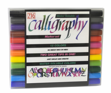 Zig Calligraphy II Dye Markers - Set of 12