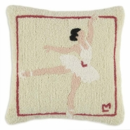 Ballet Performance Hooked Wool Pillow - 18""
