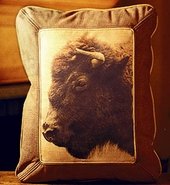 Buffalo European Leather Pillow