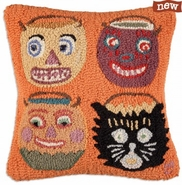 "Candy Collectors 18"" Hooked Wool Pillow"