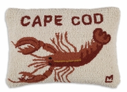 "Cape Cod Hooked Wool Pillow - 14"" X 20"""
