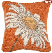 "Daisy 18"" Hooked Wool Pillow"