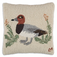 "Duck 18"" Hooked Wool Pillow"