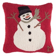 Frosty the Snowman -- Wool Pillow -- 18""