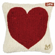 "Heart 14"" Hooked Wool Pillow"