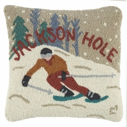 "Jackson Hole 18"" Hooked Wool Pillow"