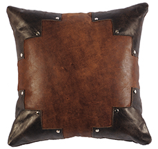 Leather Pillow with Silver Studs