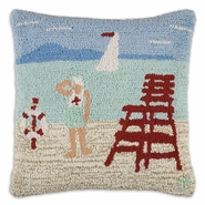 Lifeguard Hooked Wool Pillow - 18""