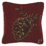 Lone Cone Hooked Wool Pillow - 14""