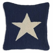 Lone Star Hooked Wool Pillow - 18""