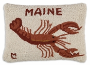 "Maine Hooked Wool Pillow - 14"" X  20"""