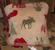 Moose Camp Rustic Lodge Microplush Pillow
