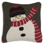 Muffler Man Hooked Wool Pillow