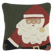 "Papa Noel 18"" Hooked Wool Pillow"